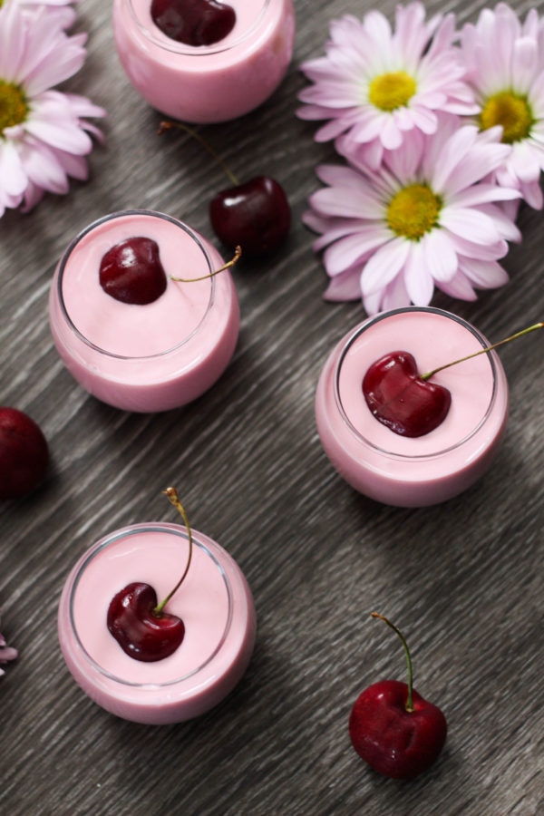 Cherry Lassi Shooters featuring SkinnyGirl - Skinny Cherry Lassi Shooters