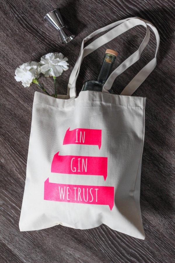 'In Gin We Trust' Tote Bag