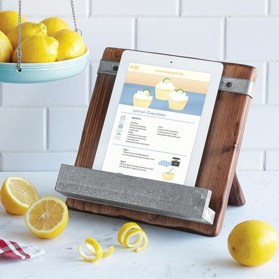 Reclaimed Wood Cookbook Stand - Foodie Gifts with a Conscience