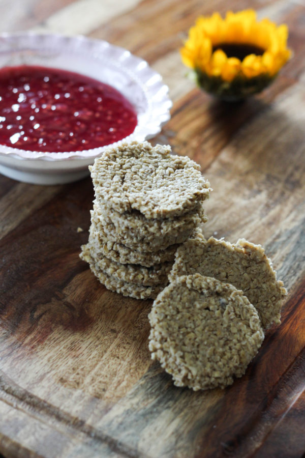 Scottish Oat Cakes with Raspberry Glaze