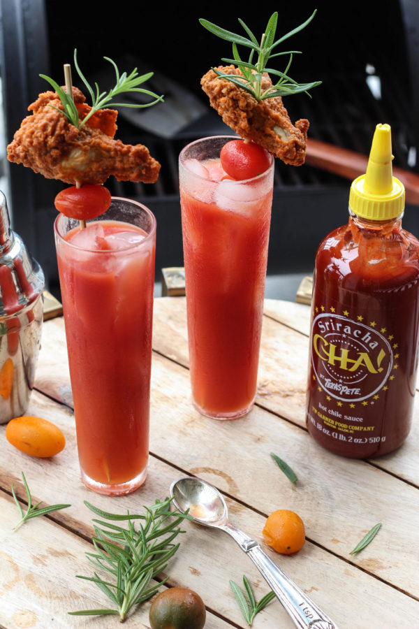 Sriracha Bloody Mary featuring Texas Pete Sauce