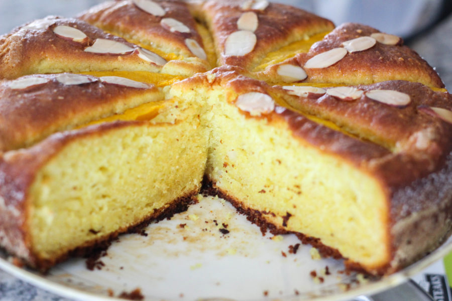Sweet curry mango almond cake  - Sweet Curry Cake