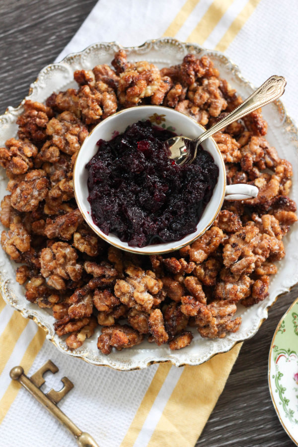 Honey Roasted California Walnuts with Beet Compote 1 1 - Honey Roasted Cardamom California Walnuts