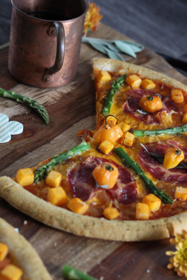 spicy-harvest-pizza-sweet-potato-asparagus-sage-habenero-chilis-and-proscuitto