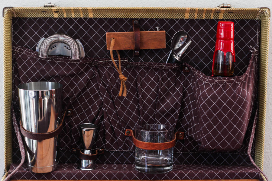 Vintage Suitcase Travel Bar by Jrunks Bar Box Kits 1 3 - The Vintage Suitcase