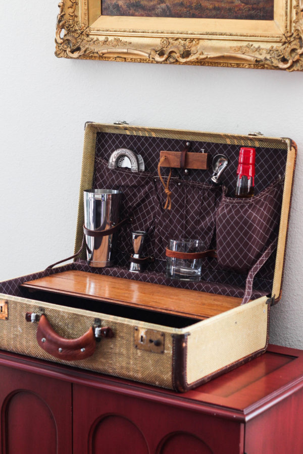 Vintage Suitcase Travel Bar by Jrunks Bar Box Kits 1 4 - The Vintage Suitcase