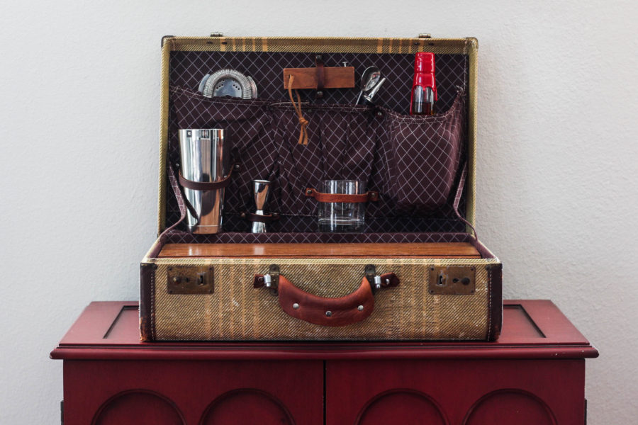 Vintage Suitcase Travel Bar by Jrunks Bar Box Kits 1 5 - The Vintage Suitcase