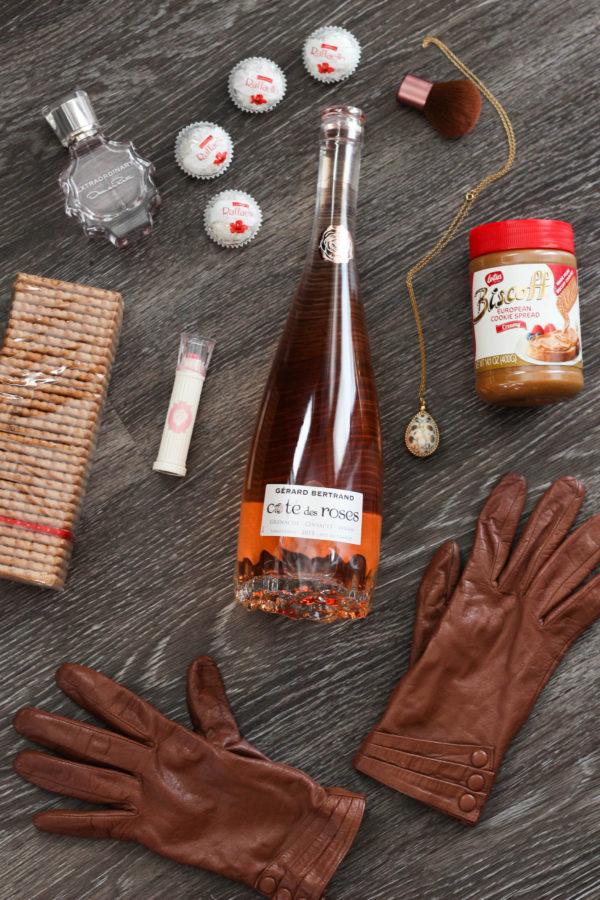 weekend-getaway-bag-essentials-gerard-bertrand-wine-cookie-butter-ferrer-roche