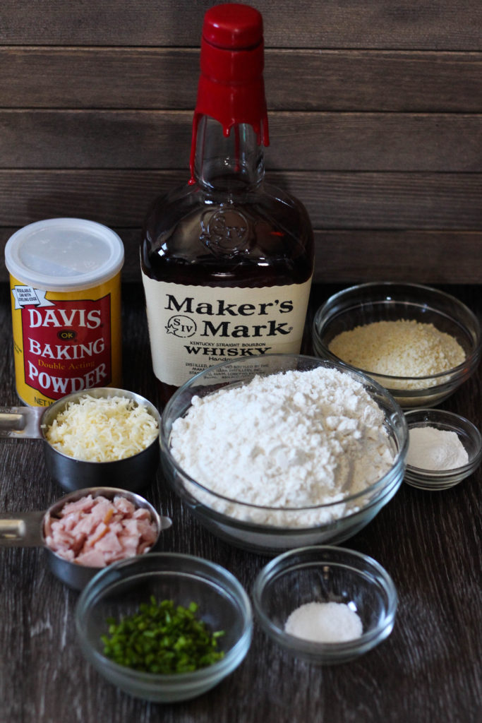 Bourbon Bacon Scones Ingredients 683x1024 - Bourbon Bacon Scones