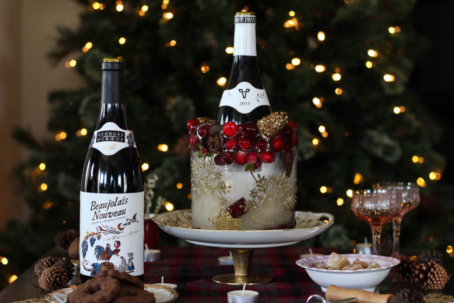 Holiday Ice Decor featuring Georges Duboeuf Beaujolais Nouveau 2016 1 6 - Ice Wine Holder for Georges Duboeuf 2016 Beaujolais Nouveau