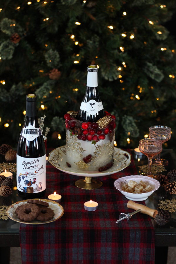 Holiday Ice Decor featuring Georges Duboeuf Beaujolais Nouveau 2016 1 7 - Ice Wine Holder for Georges Duboeuf 2016 Beaujolais Nouveau