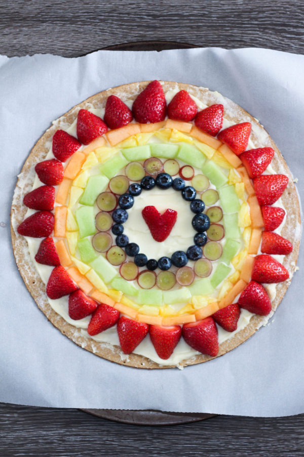 Mascarpone Fruit Rainbow Pizza Tutorial - Mascarpone Rainbow Pizza