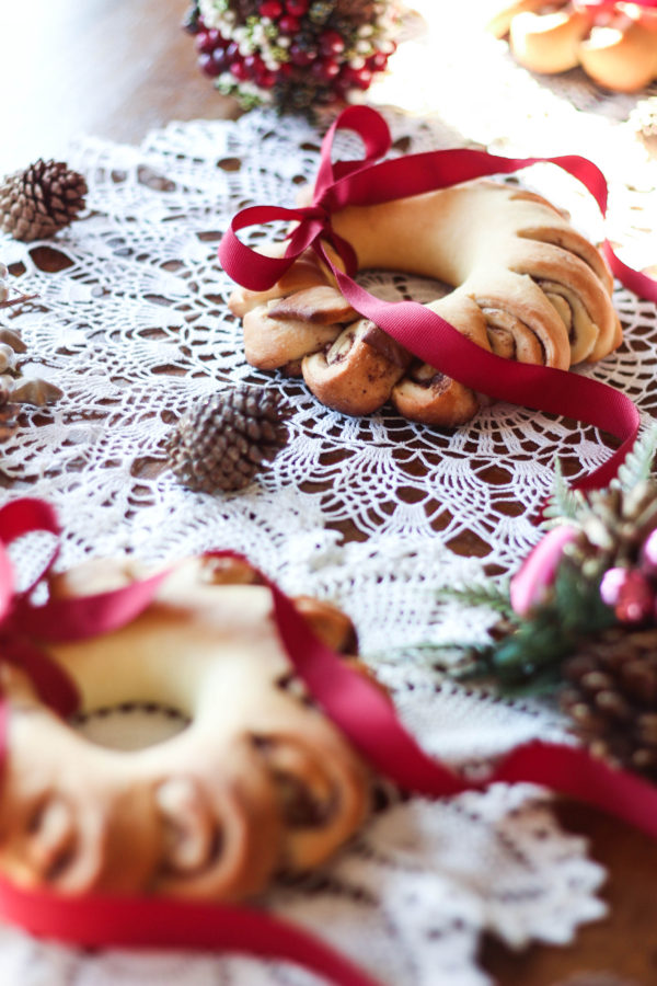 Pomegranate Rosemary Bread Wreath with Bobs Red Mill 1 2 - Pomegranate Rosemary Bread Wreath