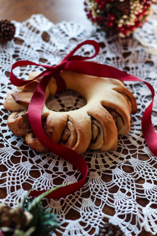 Pomegranate Rosemary Bread Wreath with Bobs Red Mill 1 5 - Pomegranate Rosemary Bread Wreath
