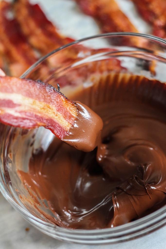 candied bacon, super bowl, super bowl recipe, chocolate bacon, bacon recipe