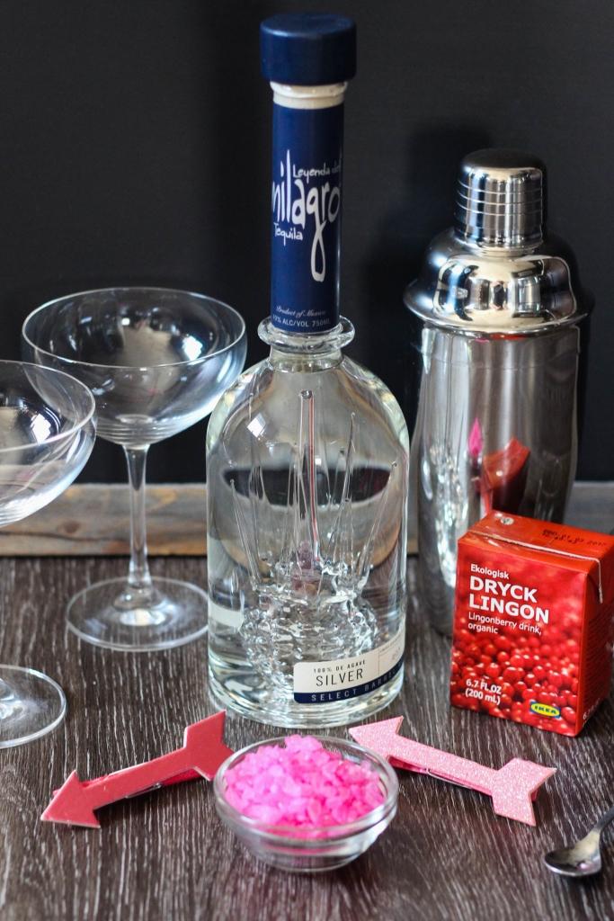 Coconut Lingonberry Margarita featuring Milagro Tequila 683x1024 - Coconut Lingonberry Margarita