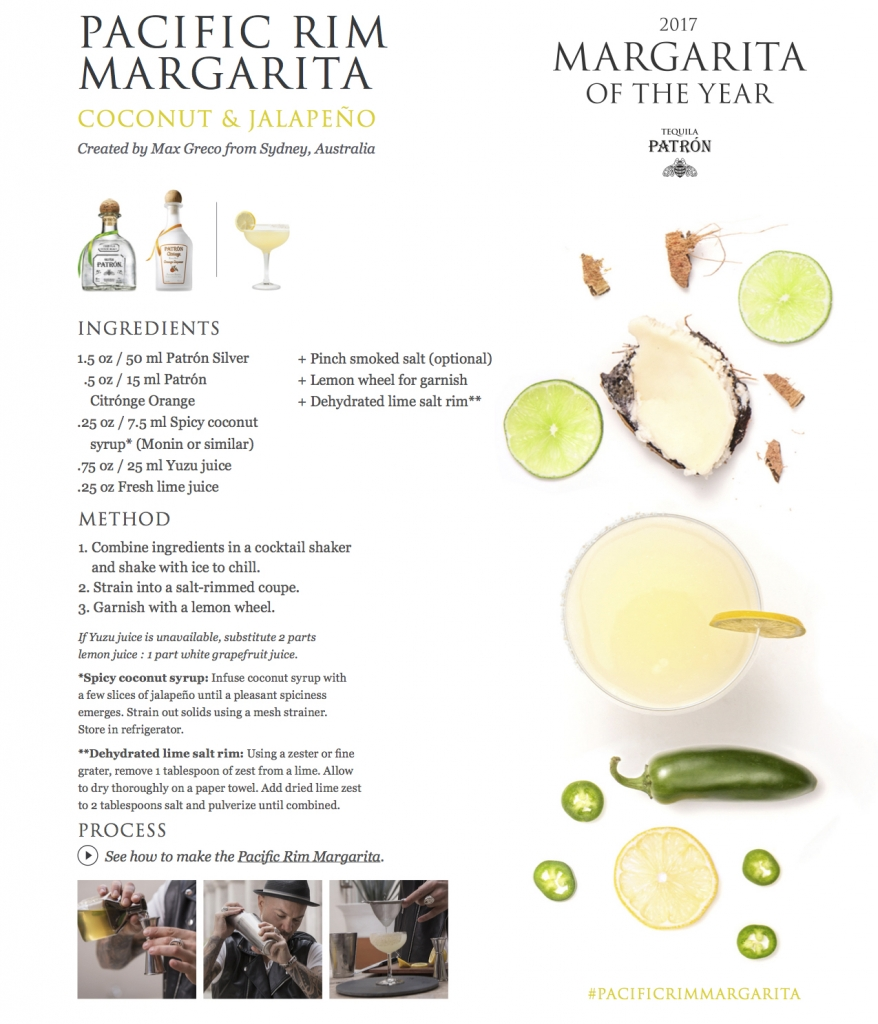 Patron Tequila Pacific Rim Margarita 878x1024 - Patrón Tequila Margarita of the Year - Part 2