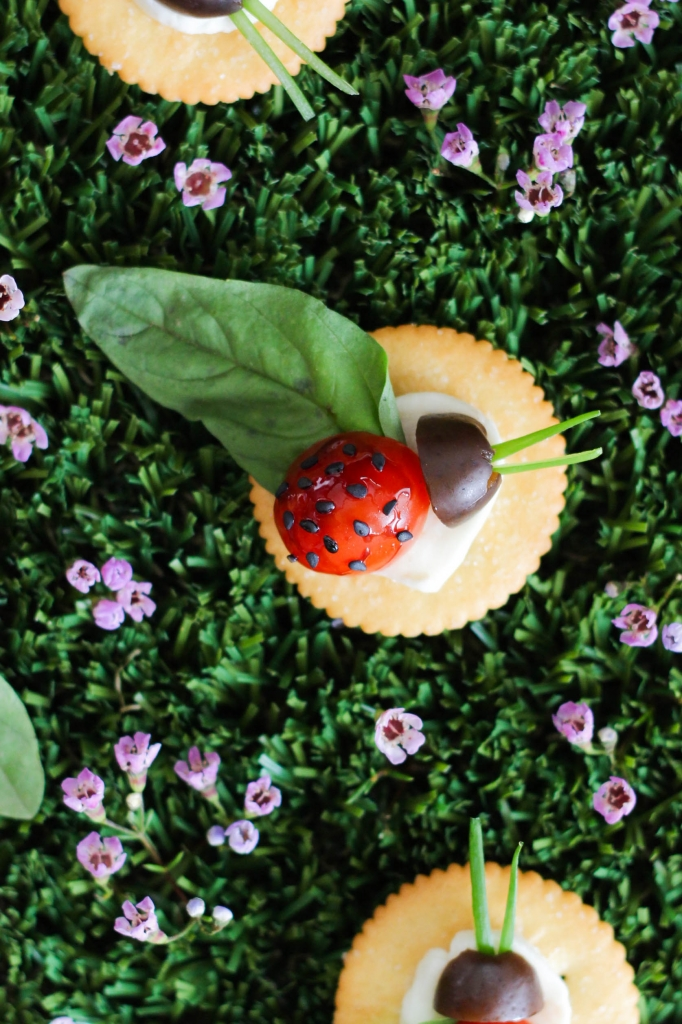 Caprese Lady Bug Ritz Crackers  682x1024 - Caprese Ladybugs
