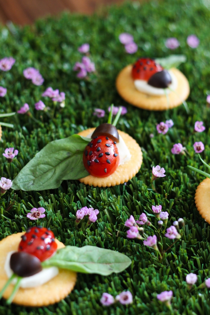 Caprese Lady Bug Ritz Crackers 1 1 683x1024 - Caprese Ladybugs