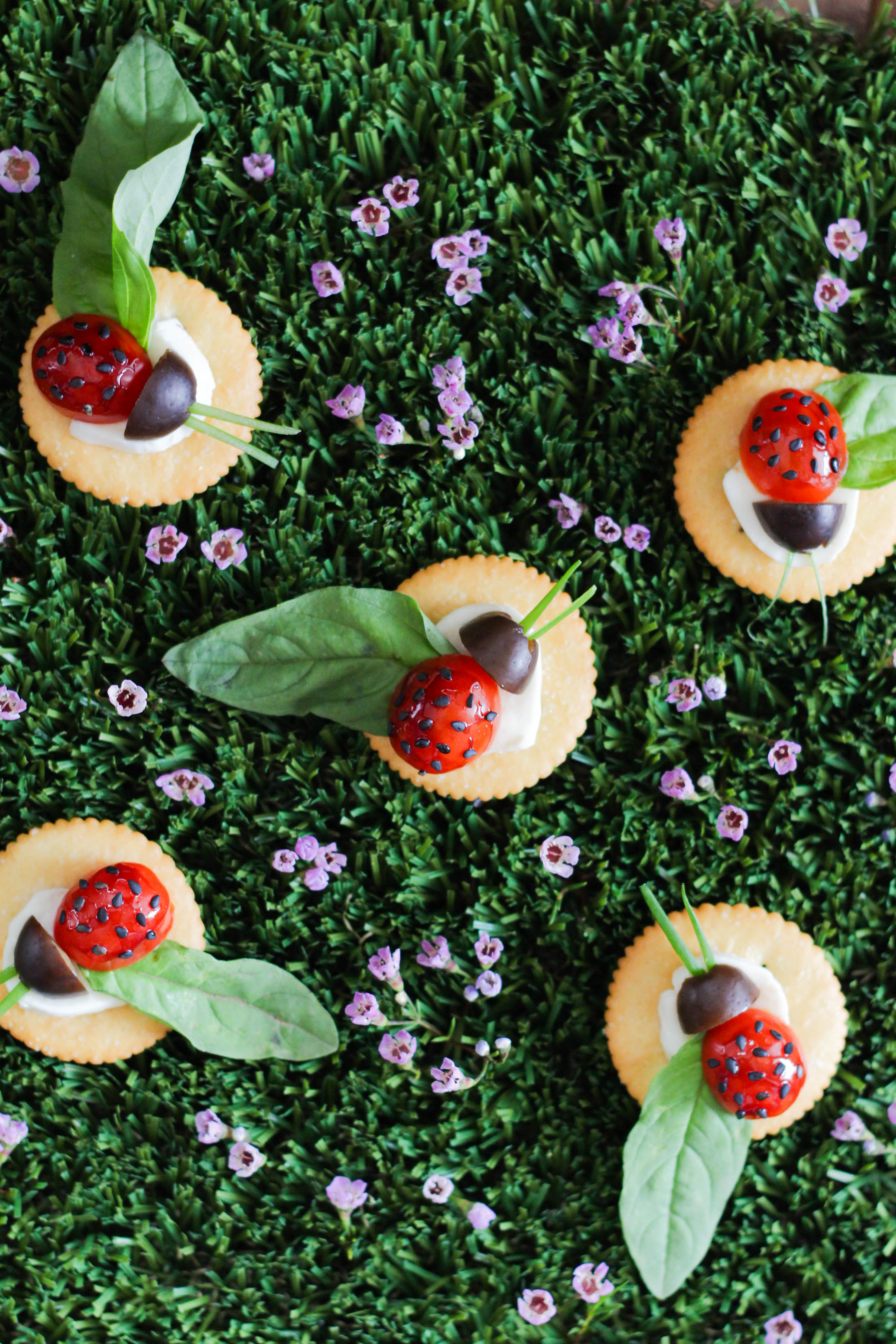 ritz crackers, caprese, recipe, childrens party