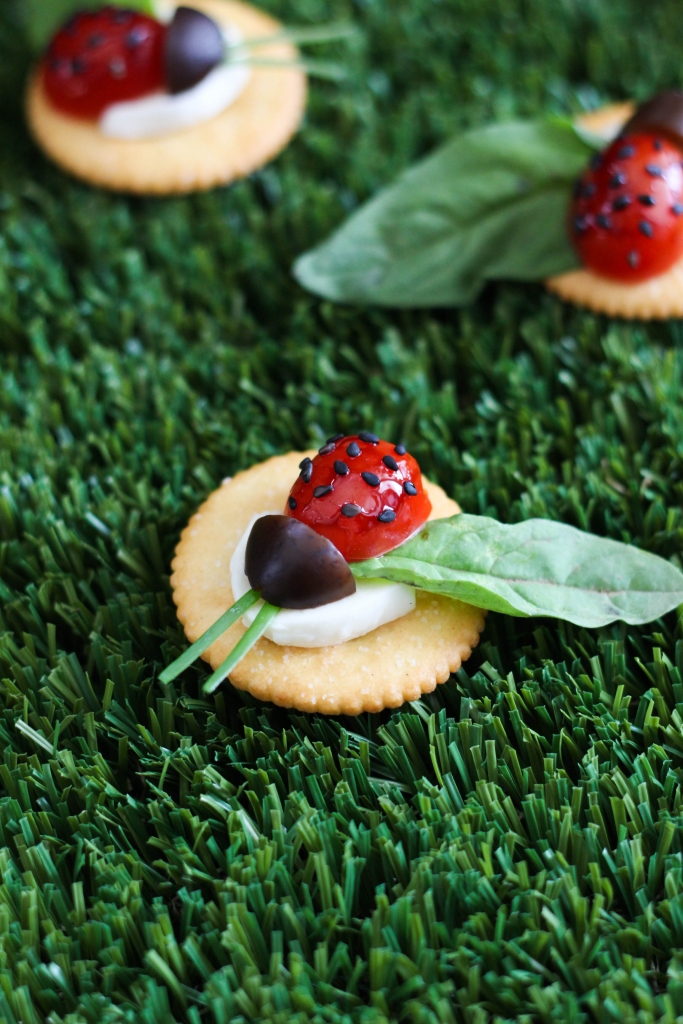 Caprese Lady Bug Ritz Crackers 1 3 683x1024 - Caprese Ladybugs