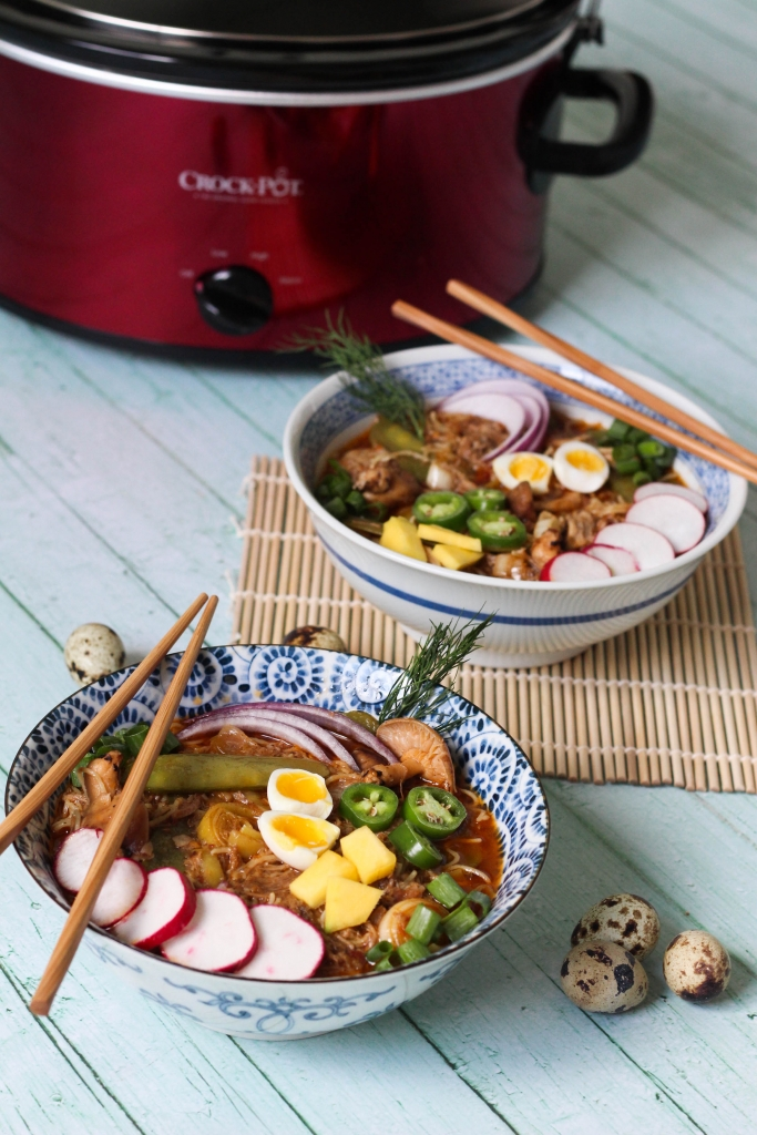 crock pot, recipe, ramen, braised pork