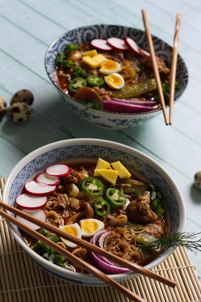 Crock Pot Honey Braised Pork Ramen 1 2 683x1024 - Honey Braised Pork Ramen