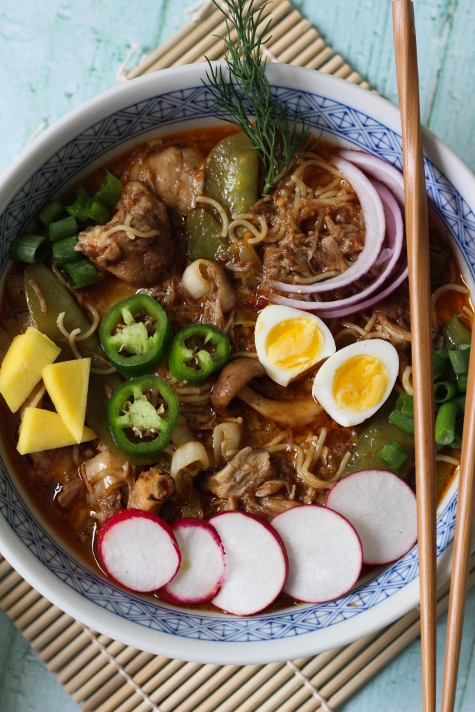 Crock Pot Honey Braised Pork Ramen 1 3 683x1024 - Honey Braised Pork Ramen