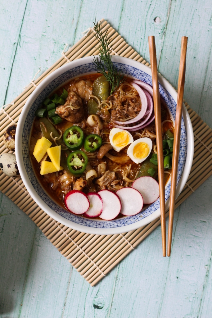 Crock Pot Honey Braised Pork Ramen 683x1024 - Honey Braised Pork Ramen