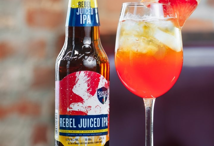 Sam Adams, beer, rebel juiced ipa, juicy fruit cocktail