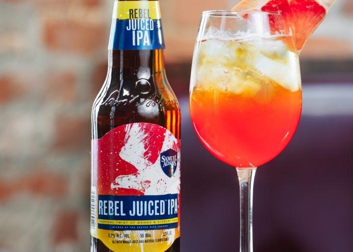 Sam Adams, beer, rebel juiced ipa, juicy fruit cocktail