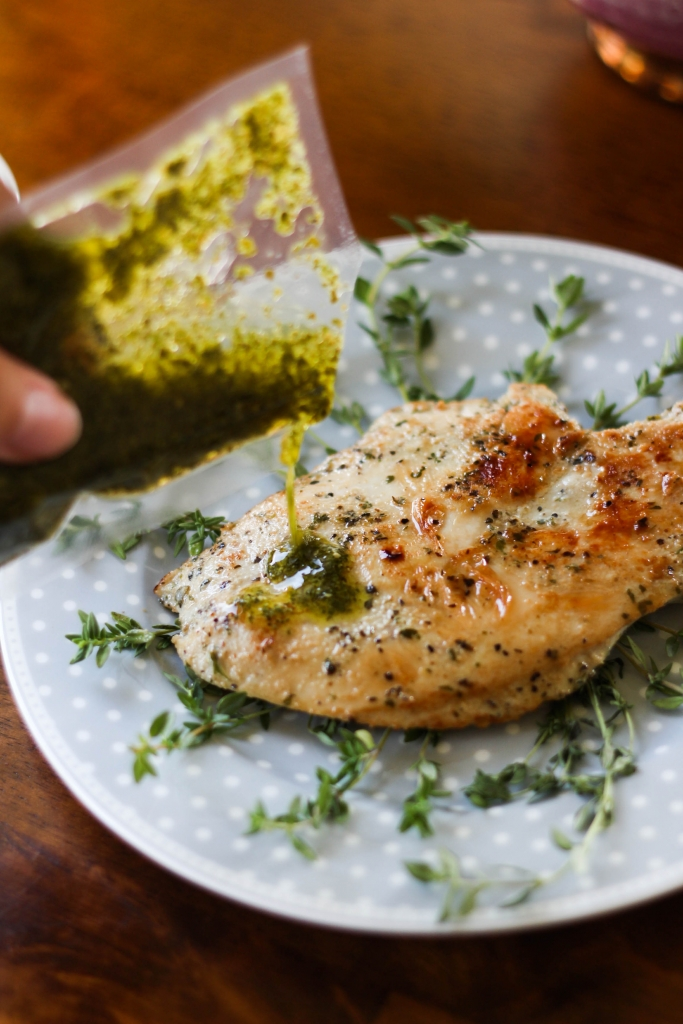 Tyson Tastemakers Chicken pesto 683x1024 - Olive Oil & Herb Chicken