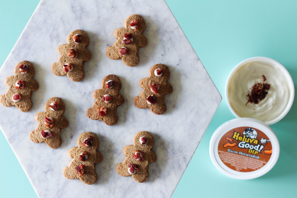 bacon, ginger bread, cookies, heluva good dip