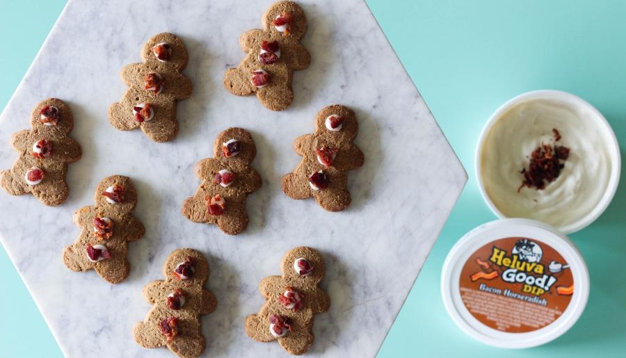 bacon, ginger bread, cookies, heluva good dip