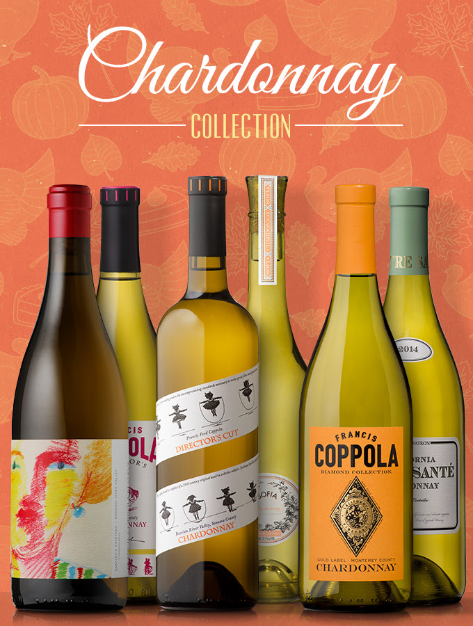 Francis Ford Coppola Winery Chardonnay Collection - Give Thanks with Coppola & Virginia Dare Wine