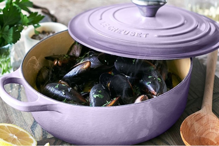 le creuset, sur la table, kitchen appliances, sale