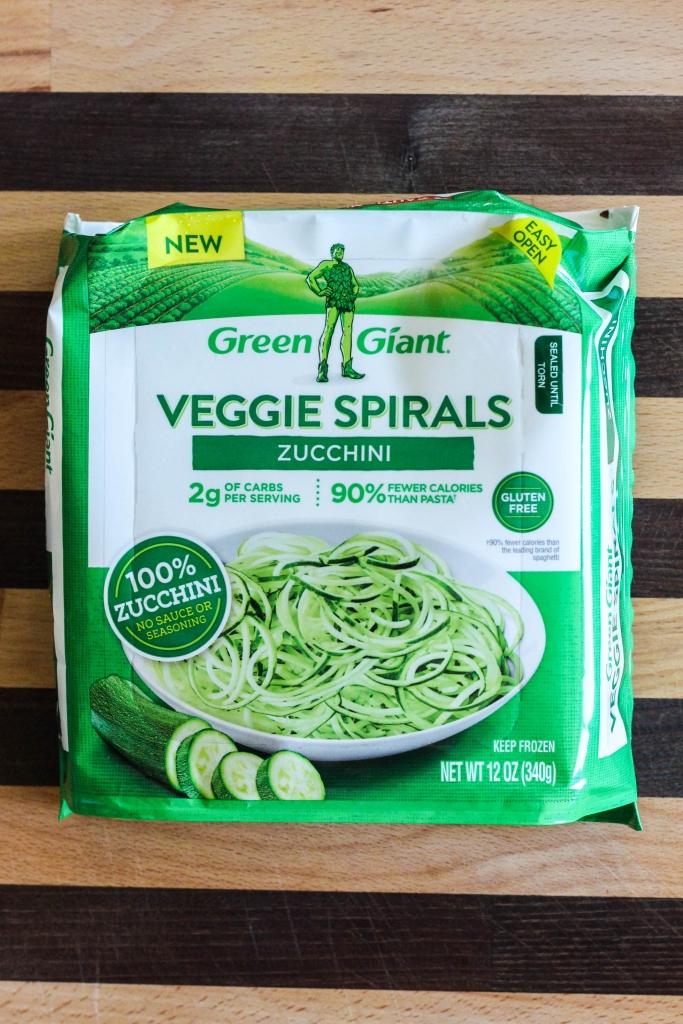 Baked Zucchini Spaghetti Medallions, Green Giant, Veggie Spirals