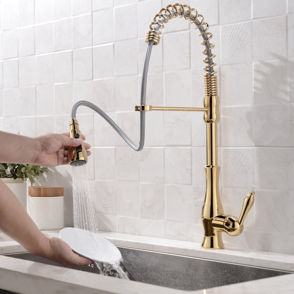 Gold Gooseneck Kitchen Faucet - Home & Design: 5 Easy & Affordable Kitchen Upgrades