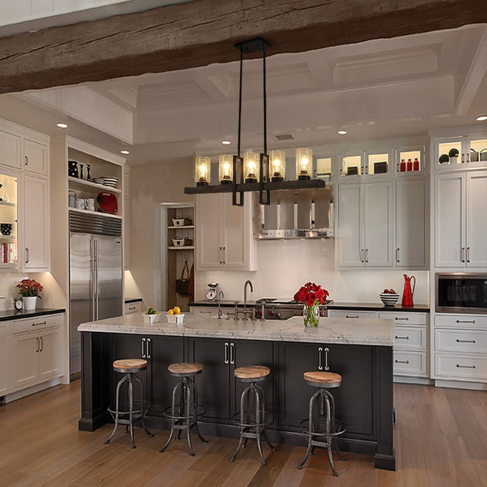 Kitchen Island Pendant Chandelier - Home & Design: 5 Easy & Affordable Kitchen Upgrades