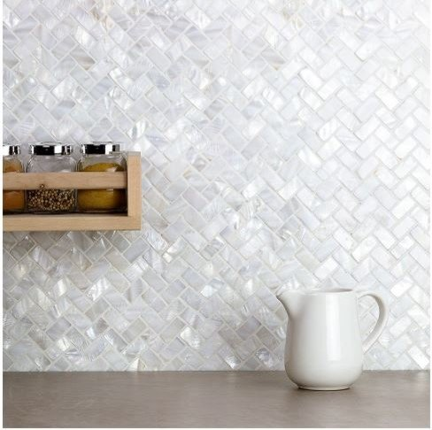 Mother of Pearl Kitchen Backsplash - Home & Design: 5 Easy & Affordable Kitchen Upgrades