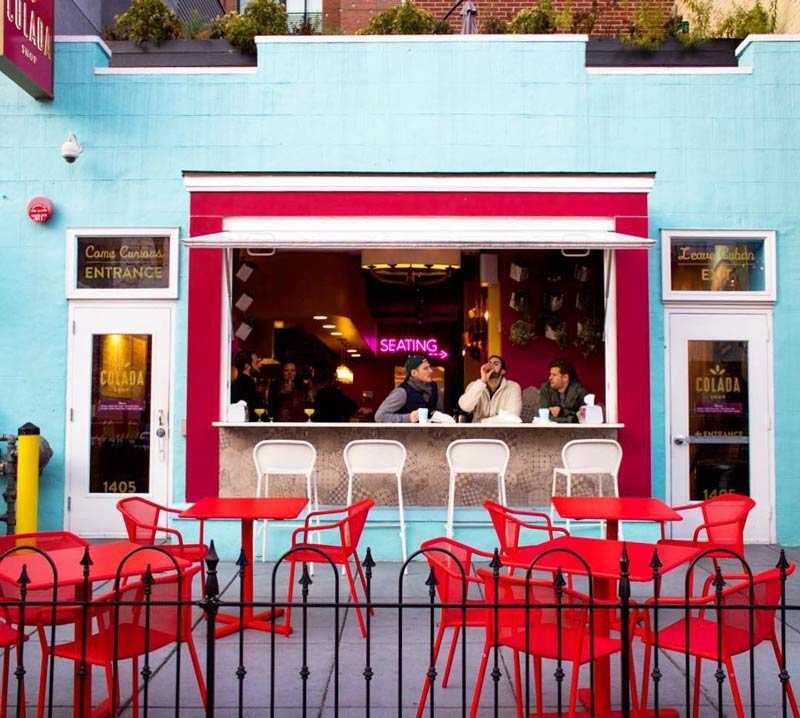 adriennenbruce colorful colada shop patio yesmydccool - Foodie Travel Guide: Spring 2018 Hot Spots