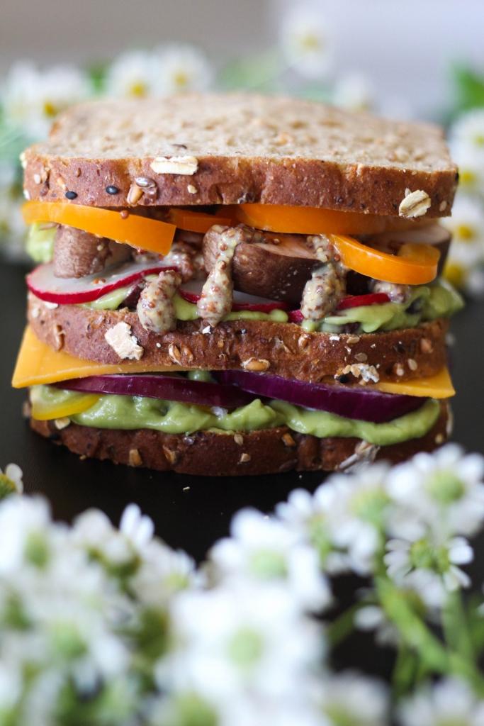 Killer Technicolor Veggie Sandwich  683x1024 - Killer Technicolor Veggie Sandwich