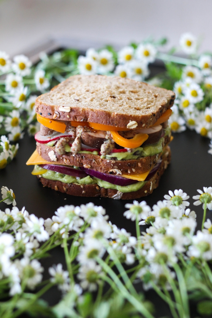 Killer Technicolor Veggie Sandwich recipe 683x1024 - Killer Technicolor Veggie Sandwich