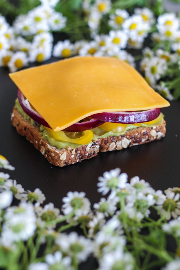 Killer Technicolor Veggie Sandwich tutorial cheese 683x1024 - Killer Technicolor Veggie Sandwich
