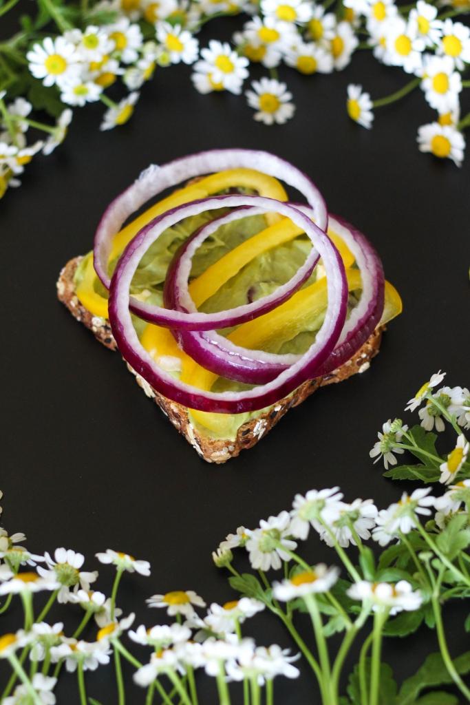 Killer Technicolor Veggie Sandwich tutorial onions 683x1024 - Killer Technicolor Veggie Sandwich