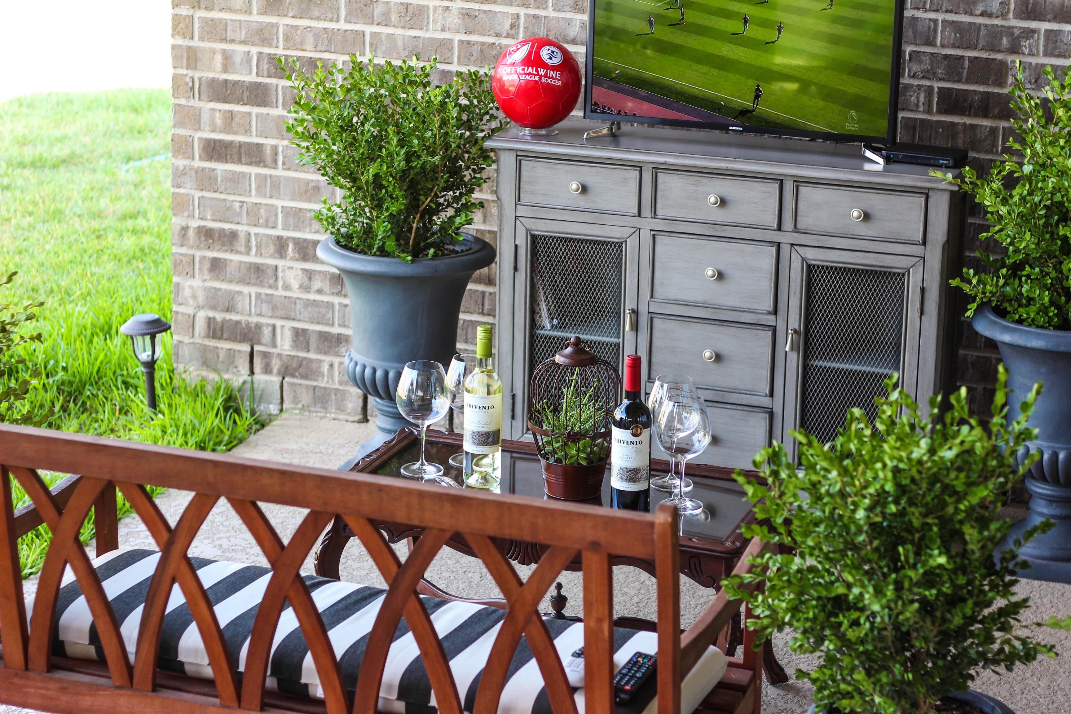 Trivento, Wine, Soccer, Backyard BBQ