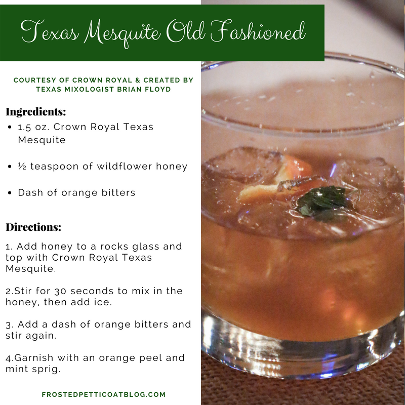 Texas Mesquite Old Fashioned, Crown Royal Texas Mesquite