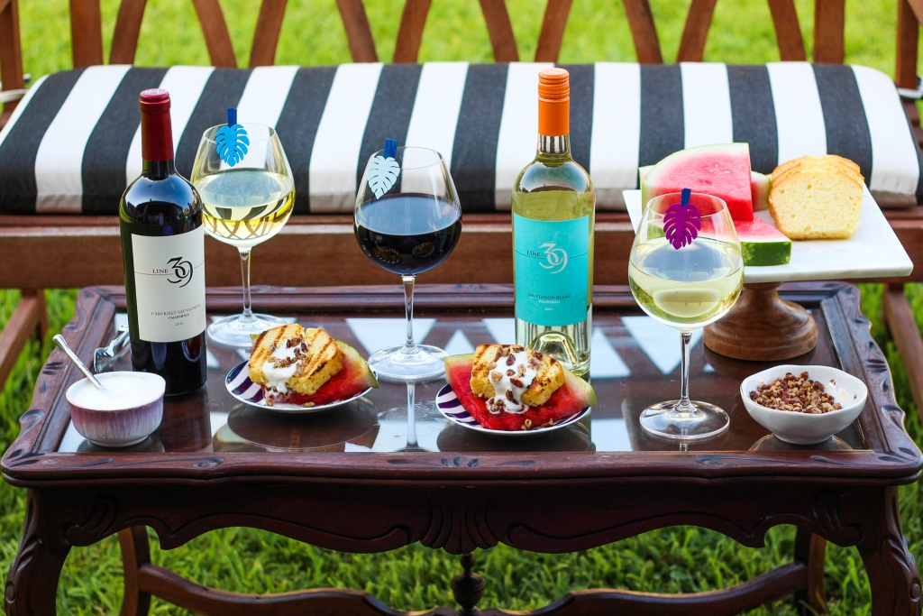 Grilled Dessert & Wine Pairing Station