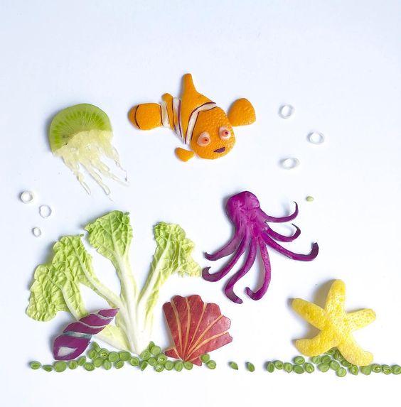Lauren Ho Food Art - fruitartbyloho Finding Nemo