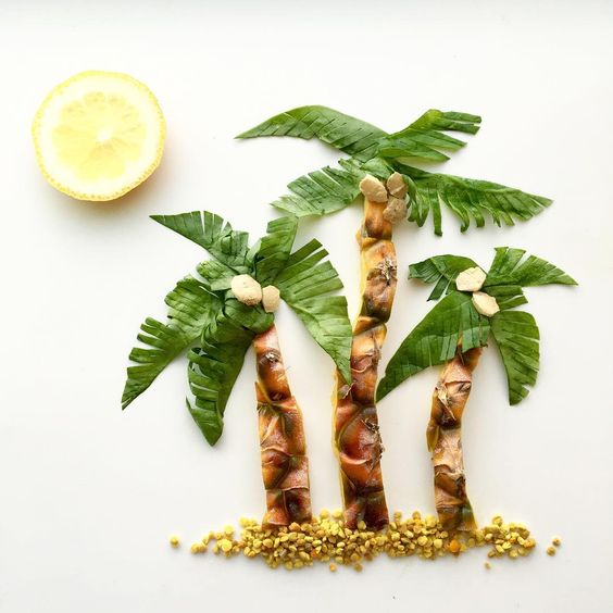 Lauren Ho Food Art Palm Trees - Lauren Ho's Wonderful World of Food Art